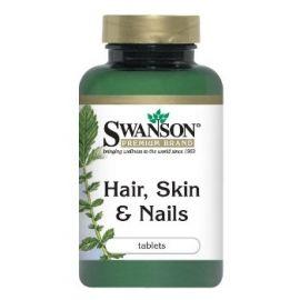 Swanson Premium Brand Plaukams, Odai ir Nagams N60 maisto papildas naudingas plaukams, nagams bei odai